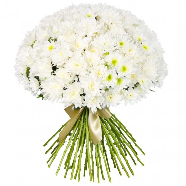 Букет из белых хризантем № 3